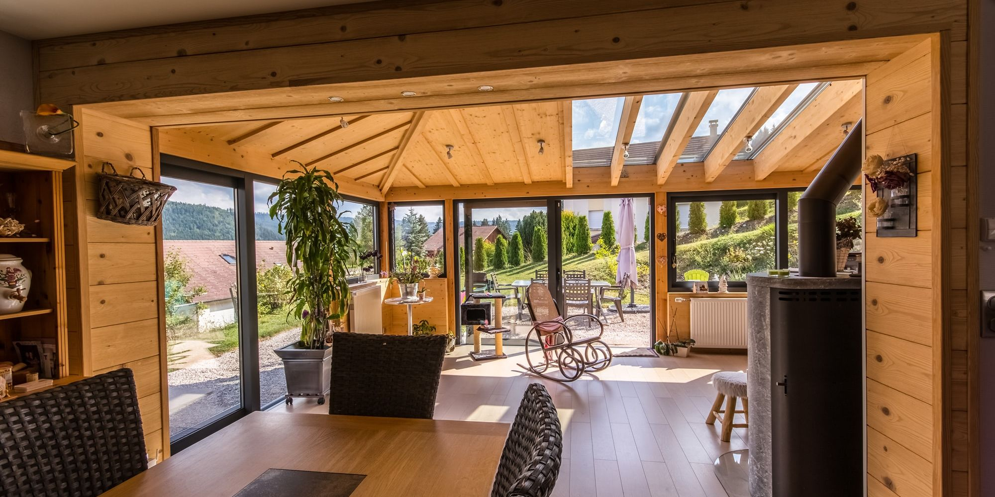 Véranda bois alu et rénovation : Véranda Rêve Doubs, Franche-comté