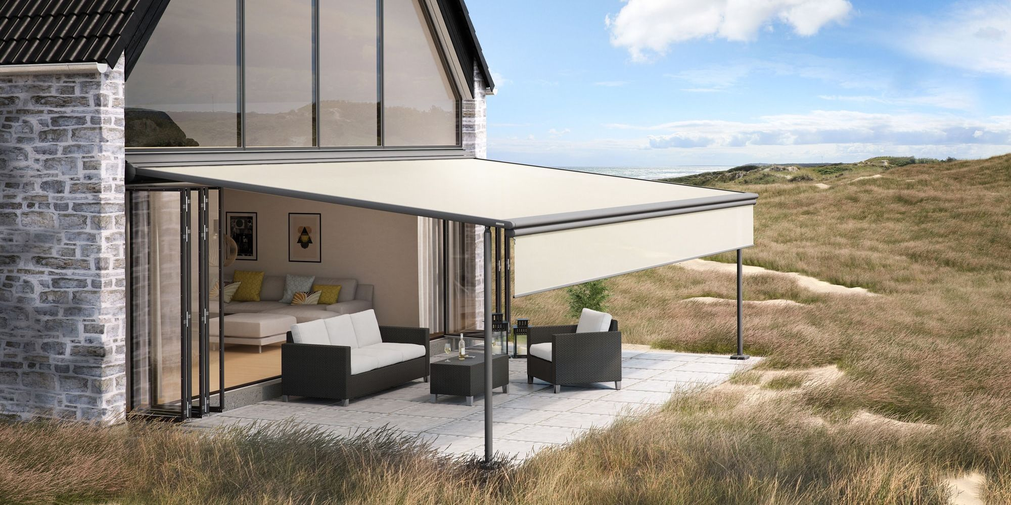 Pergolas retractable en alu